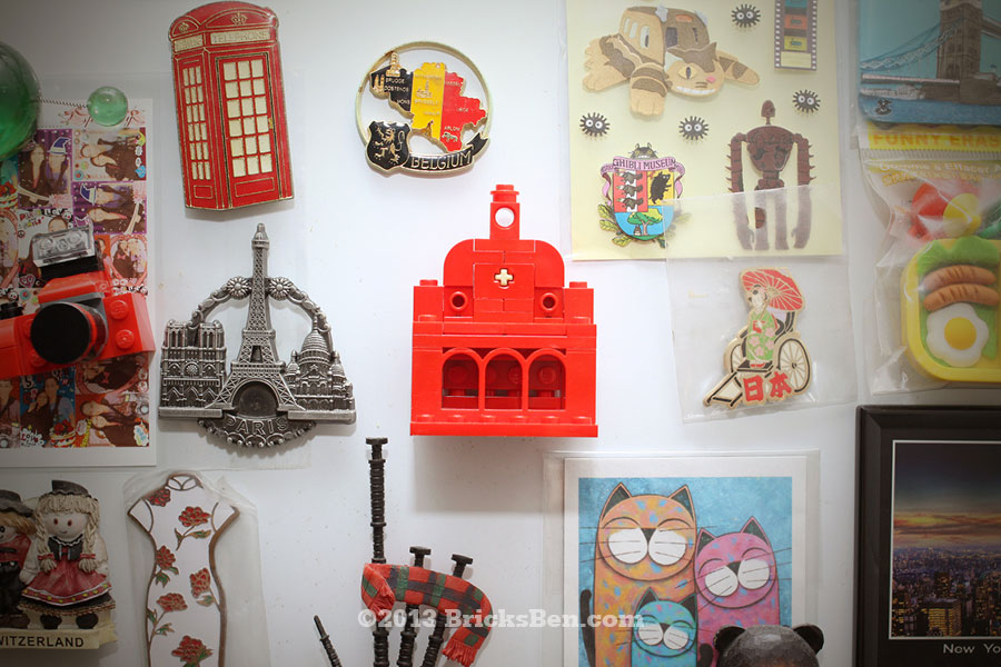 BricksBen - LEGO Christ Church Melaka - Magnet on Fridge