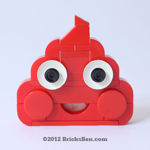 BricksBen - Happy Poop - Red