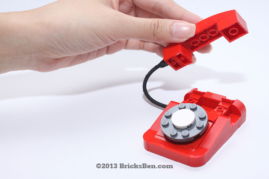 BricksBen - LEGO Rotary Telephone - 7