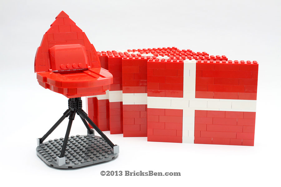 BricksBen - Creations for BoConcept - LEGO Ottawa Chair Denmark Flag